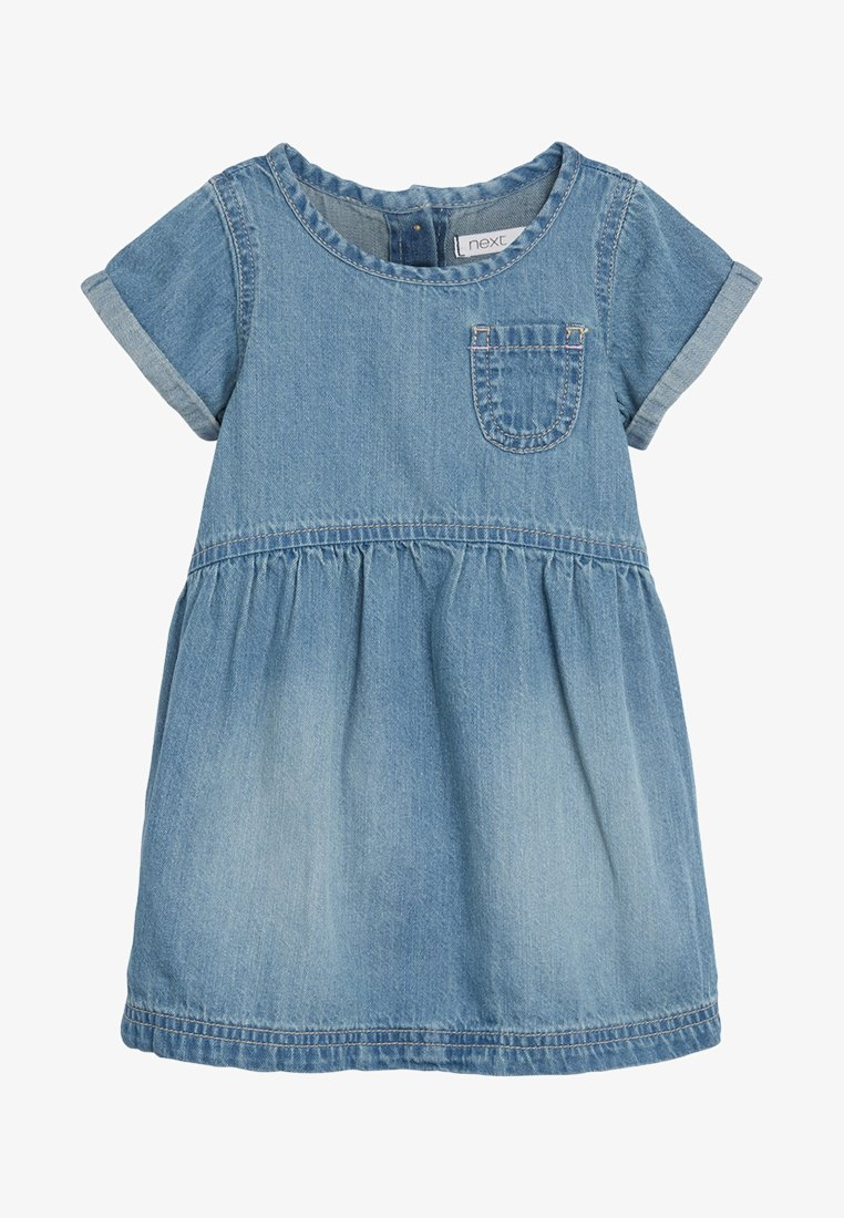 Next - DENIM POCKET DRESS (3MTHS-7YRS) - Vestido informal - blue