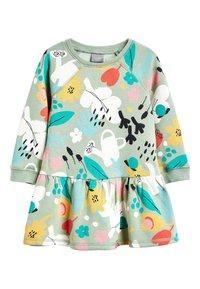 Next - KHAKI SWEAT DRESS (3MTHS-7YRS) - Korte jurk - green - 0