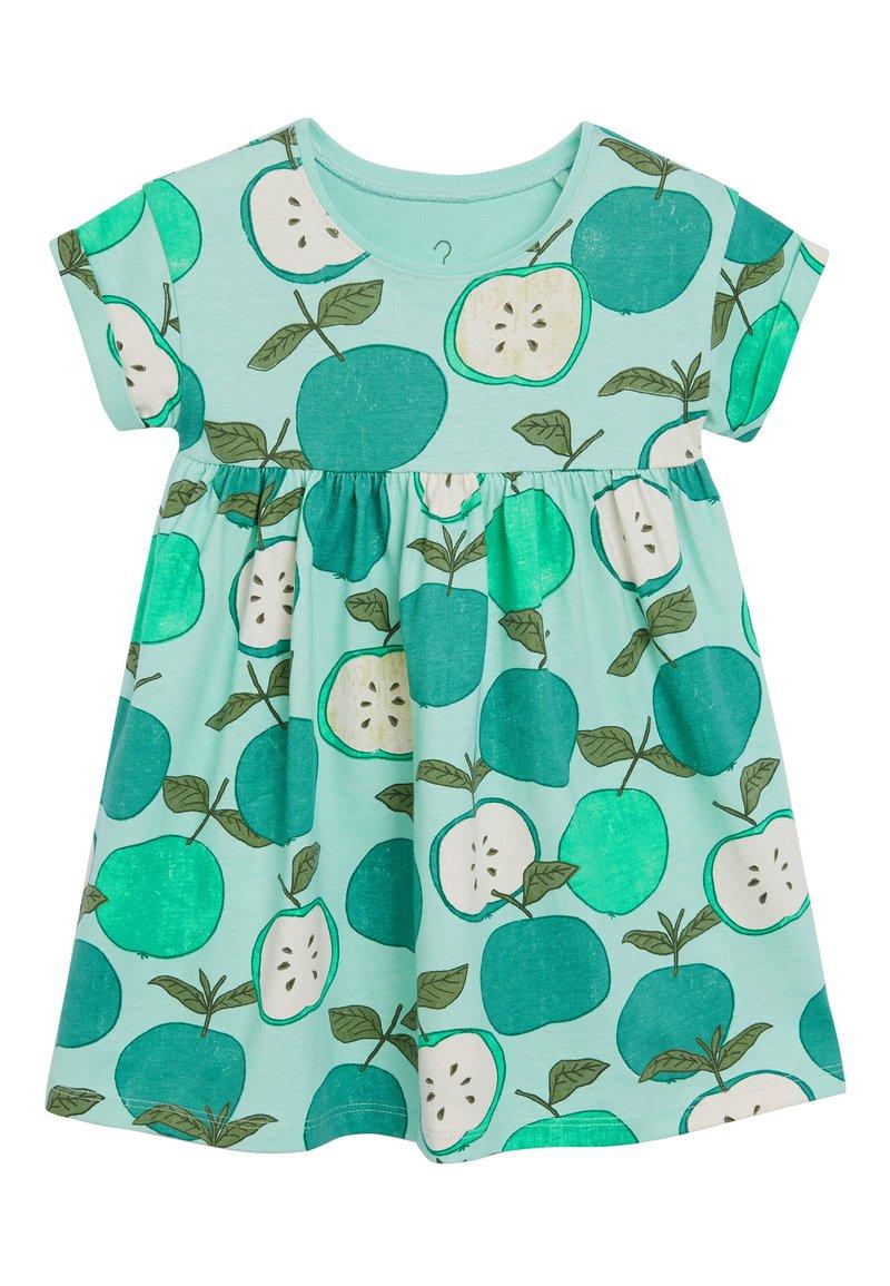 Next - GREEN APPLE PRINTED DRESS (3MTHS-7YRS) - Korte jurk - green