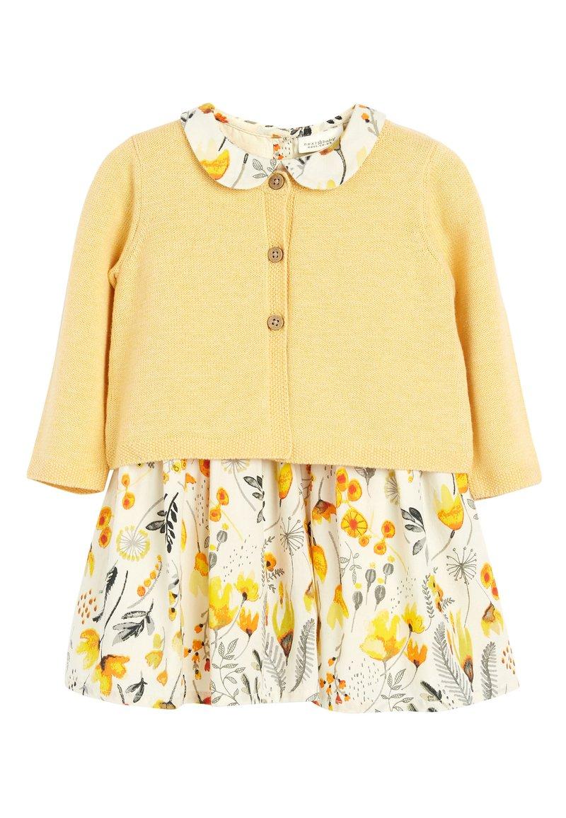 Next - OCHRE PROM DRESS AND CARDIGAN SET (0MTHS-2YRS) - Vest - yellow