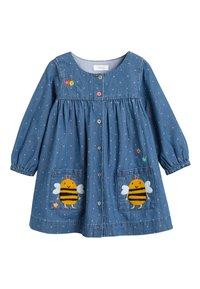 Next - DENIM BUTTON THROUGH DRESS (3MTHS-7YRS) - Denimové šaty - blue - 0