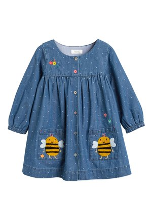 DENIM BUTTON THROUGH DRESS (3MTHS-7YRS) - Robe en jean - blue