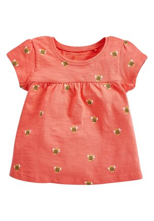 WHITE GOTS CERTIFIED ORGANIC COTTON T-SHIRT (3MTHS-7YRS) - T-shirt imprimé - orange