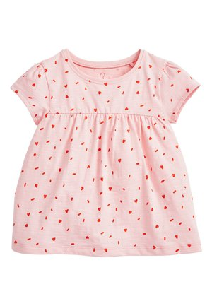 WHITE GOTS CERTIFIED ORGANIC COTTON T-SHIRT (3MTHS-7YRS) - T-shirt print - pink
