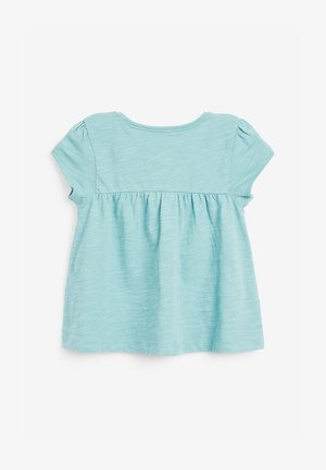 WHITE GOTS CERTIFIED ORGANIC COTTON T-SHIRT (3MTHS-7YRS) - Print T-shirt - blue