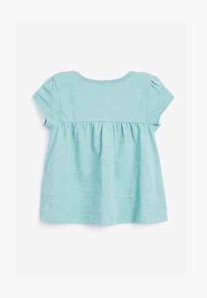 WHITE GOTS CERTIFIED ORGANIC COTTON T-SHIRT (3MTHS-7YRS) - T-shirt print - blue