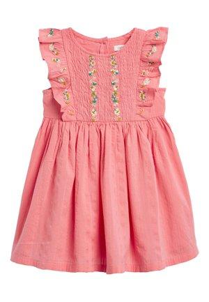 EMBROIDERED SHIRRED COTTON DRESS (3MTHS-7YRS) - Vapaa-ajan mekko - pink