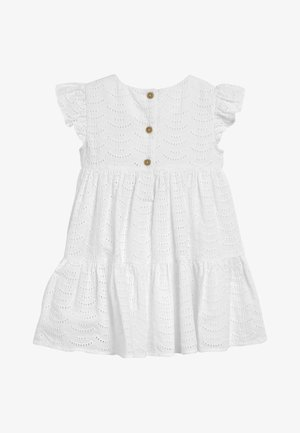 WHITE TIERED BRODERIE DRESS (3MTHS-7YRS) - Hverdagskjoler - white