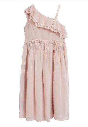 ASYMMETRIC MAXI CORSAGE DRESS (3-16YRS) - Maxi dress - pink