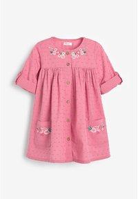 Next - BUTTON THROUGH DRESS (3MTHS-7YRS) - Paitamekko - pink - 0