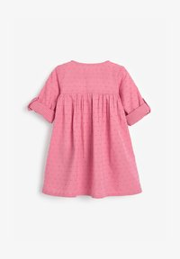 Next - BUTTON THROUGH DRESS (3MTHS-7YRS) - Paitamekko - pink - 1