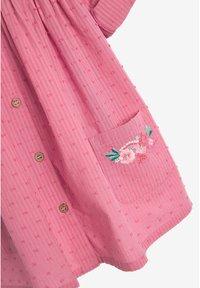 Next - BUTTON THROUGH DRESS (3MTHS-7YRS) - Paitamekko - pink - 2
