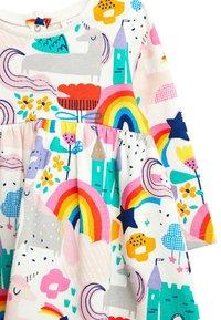 Next - PINK UNICORN PRINT DRESS (0MTHS-2YRS) - Korte jurk - off-white - 2