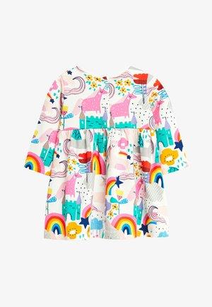 PINK UNICORN PRINT DRESS (0MTHS-2YRS) - Vestito estivo - off-white