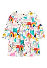 Next - PINK UNICORN PRINT DRESS (0MTHS-2YRS) - Korte jurk - off-white - 0