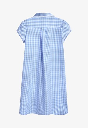 RED BUTTON FRONT LACE GINGHAM DRESS (3-14YRS) - Sukienka koszulowa - blue