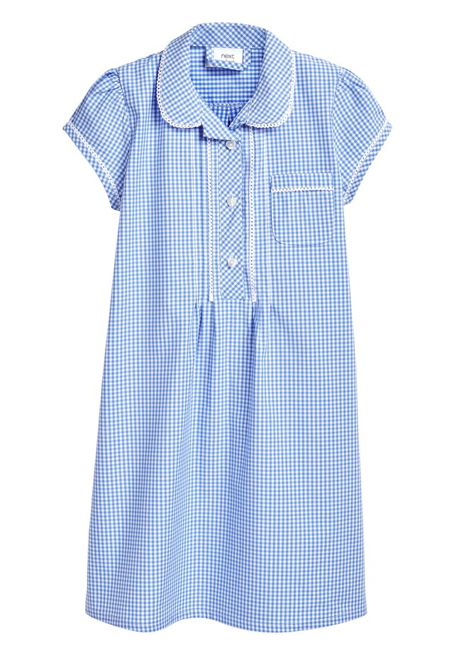 RED BUTTON FRONT LACE GINGHAM DRESS (3-14YRS) - Robe chemise - blue