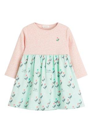 GREEN/PINK FLORAL PRINT DRESS (0MTHS-2YRS) - Korte jurk - pink