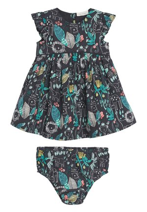 NAVY GOTS ORGANIC COTTON PRINTED PROM DRESS WITH MATCHING KNICKE - Vestito estivo - blue