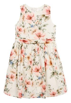 ECRU/PINK FLORAL PROM DRESS (3-16YRS) - Korte jurk - pink