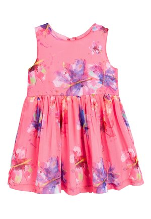 PINK BUTTERFLY PRINT PARTY DRESS (3MTHS-7YRS) - Cocktailjurk - pink