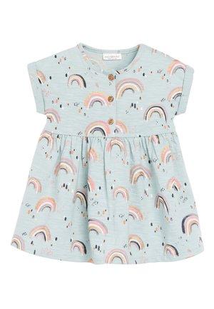LIGHT TEAL JERSEY DRESS (0MTHS-2YRS) - Jersey dress - blue