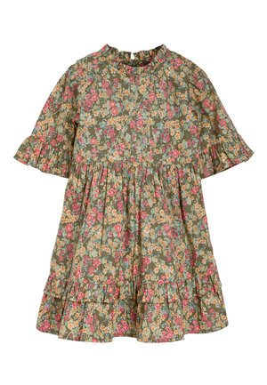 KHAKI FLORAL PRAIRIE TIERED DRESS (3MTHS-7YRS) - Vestito estivo - green