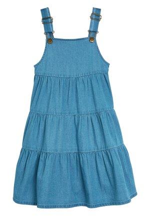 DENIM TIERED PINAFORE (3-16YRS) - Denim dress - blue