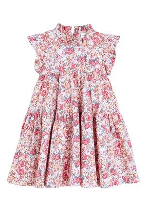 PINK TIERED JERSEY DRESS (3MTHS-7YRS) - Jerseyjurk - pink