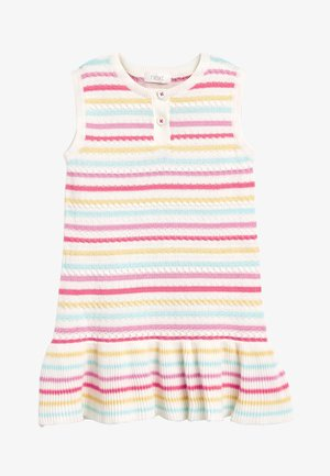 RED SLEEVELESS KNITTED DRESS (3MTHS-7YRS) - Robe pull - off-white