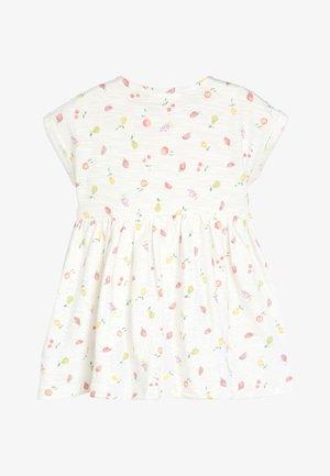 ECRU FRUIT PRINT JERSEY DRESS (0MTHS-2YRS) - Trikoomekko - white