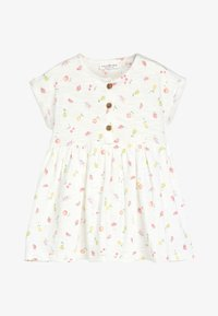 Next - ECRU FRUIT PRINT JERSEY DRESS (0MTHS-2YRS) - Vestido ligero - white - 0
