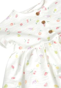 Next - ECRU FRUIT PRINT JERSEY DRESS (0MTHS-2YRS) - Vestido ligero - white - 2
