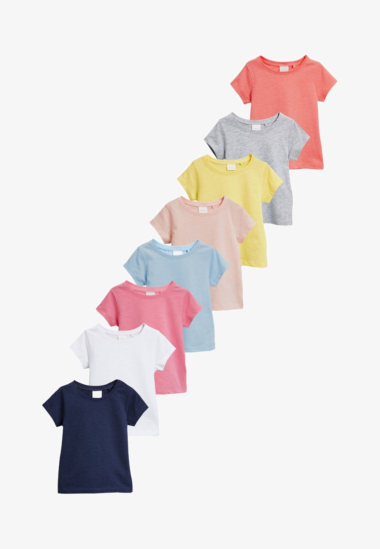 Next - EIGHT PACK - Basic T-shirt - pink