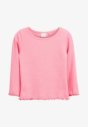 BLUE LONG SLEEVE T-SHIRT (3MTHS-7YRS) - Long sleeved top - mottled pink