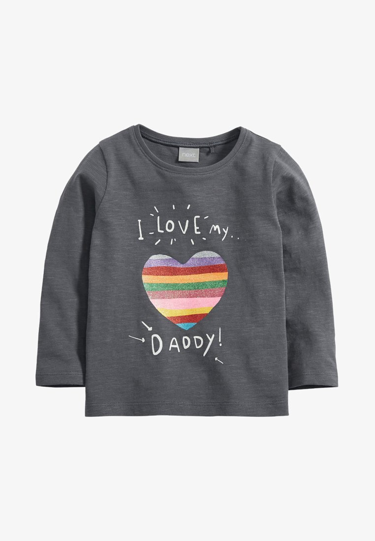 Next - LOVE MY DAD  - Long sleeved top - grey