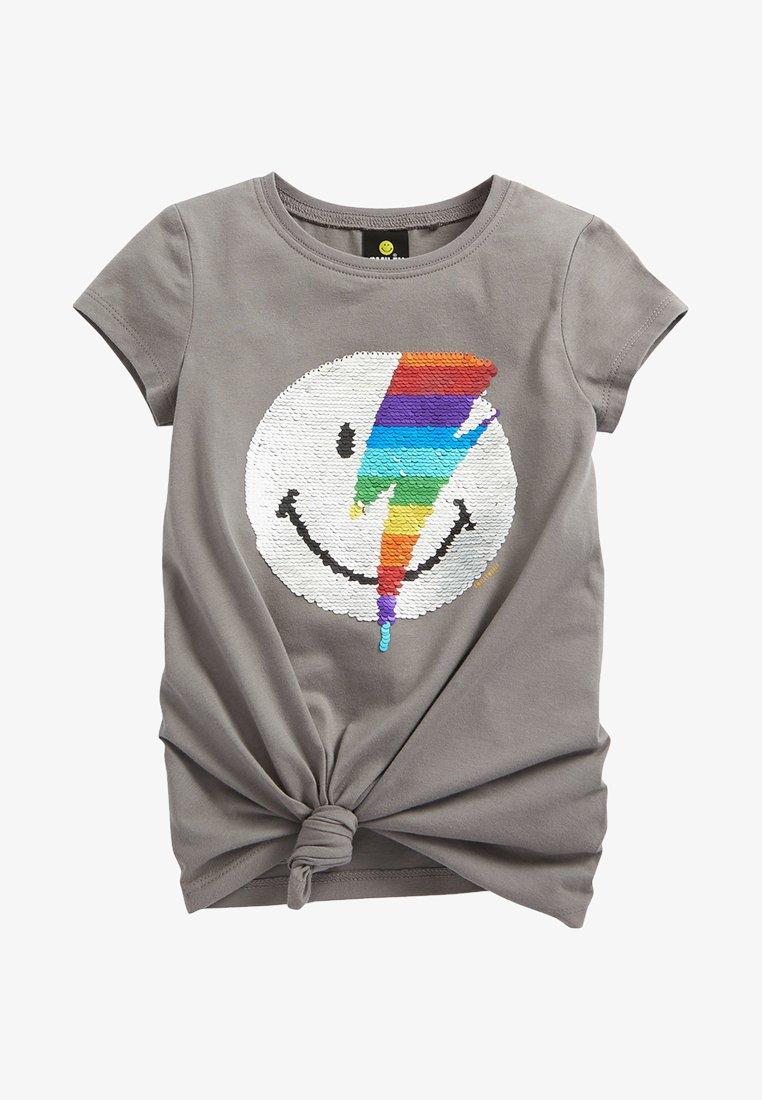 Next - SMILEY - Print T-shirt - grey