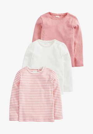 3 PACK - Pitkähihainen paita - pink