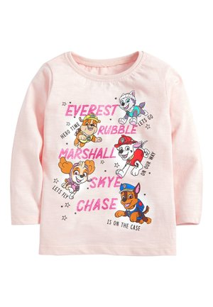 PALE PINK PAW PATROL LONG SLEEVE T-SHIRT (3MTHS-7YRS) - Long sleeved top - pink