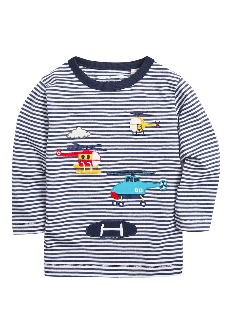 Next - BLUE LONG SLEEVE APPLIQUé HELICOPTERS T-SHIRT (3MTHS-7YRS) - Long sleeved top - blue