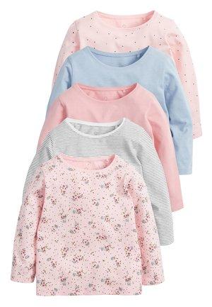 BLACK/WHITE 5 PACK T-SHIRTS (3MTHS-7YRS) - Longsleeve - pink