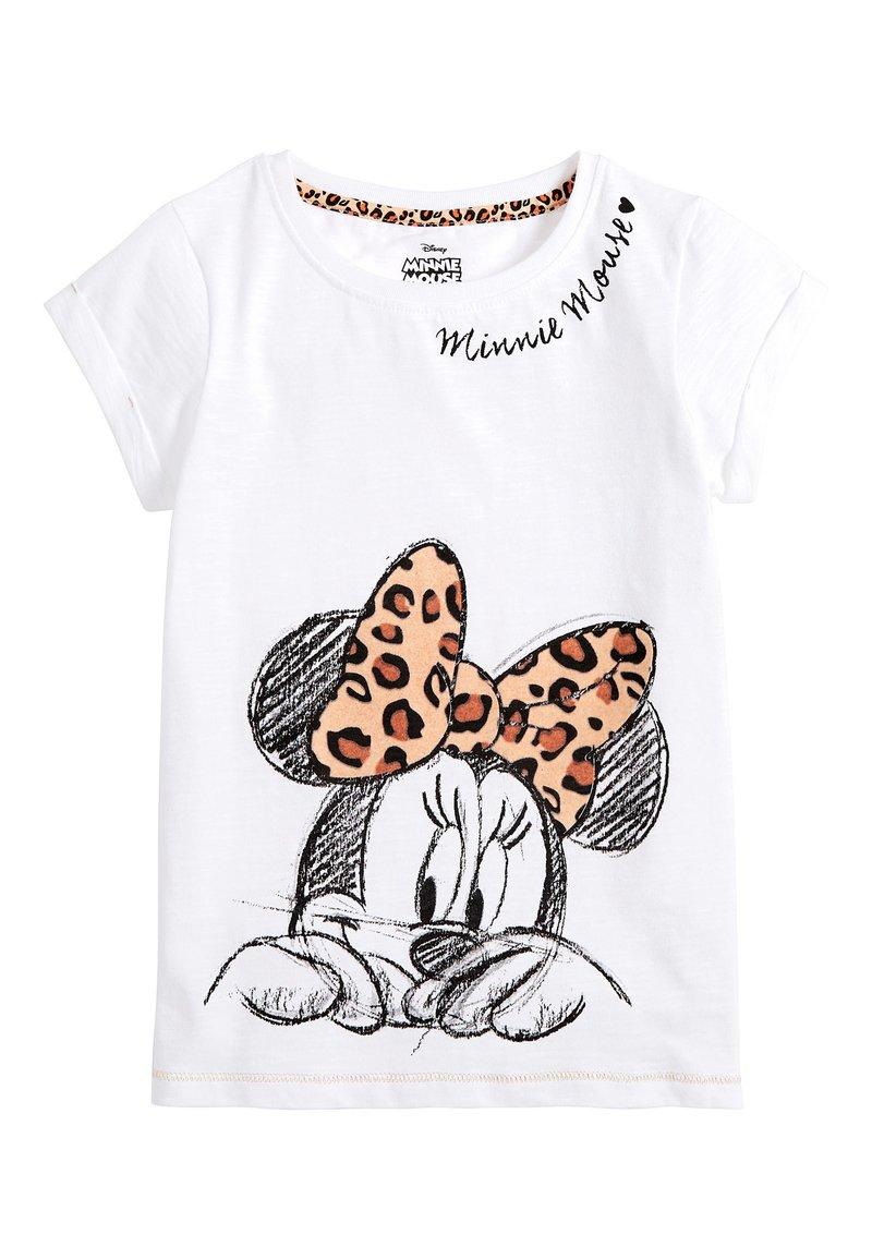 Next - WHITE MINNIE MOUSE ANIMAL BOW T-SHIRT (3-16YRS) - T-shirt imprimé - white