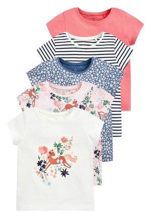 5 PACK - Print T-shirt - mottled pink