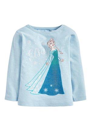PALE BLUE ELSA DISNEY FROZEN LONG SLEEVE T-SHIRT (3MTHS-7YRS) - T-shirt à manches longues - blue