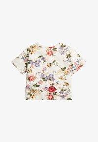 Next - WHITE/PINK FLORAL BOXY FIT T-SHIRT (3MTHS-7YRS) - T-shirt imprimé - off-white - 1