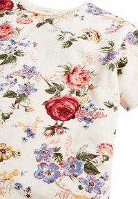 Next - WHITE/PINK FLORAL BOXY FIT T-SHIRT (3MTHS-7YRS) - T-shirt imprimé - off-white - 2