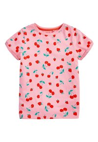 Next - Basic T-shirt - mottled pink - 0