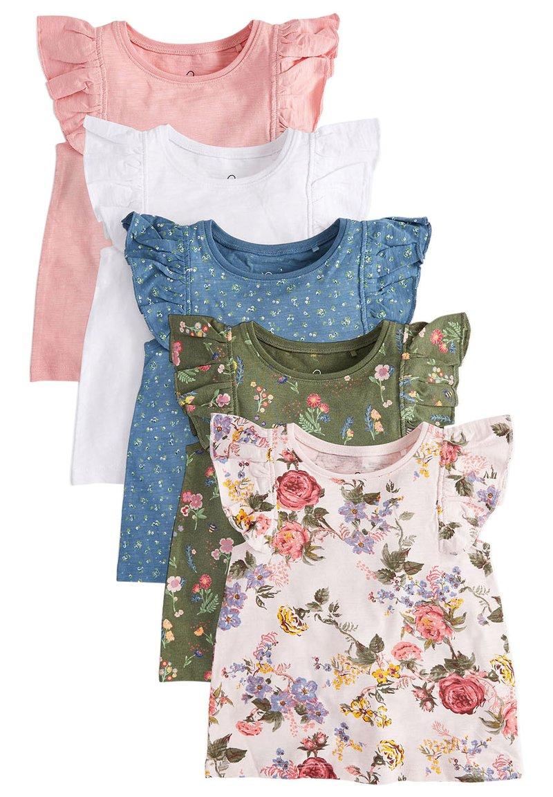Next - 5 PACK - Print T-shirt - pink