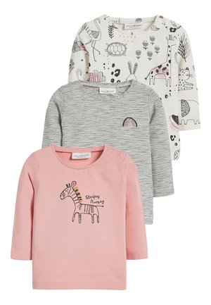 MONOCHROME 3 PACK CHARACTER TOPS (0MTHS-2YRS) - Longsleeve - grey