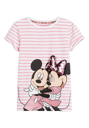 PINK MINNIE MOUSE & MICKEY MOUSE SEQUIN T-SHIRT (3-16YRS) - Print T-shirt - pink